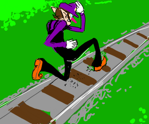 I think someone derailed, draw waluigi