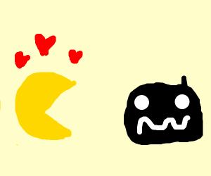 pacman loves black blob