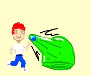 redhead owo man gets attacked by slime
