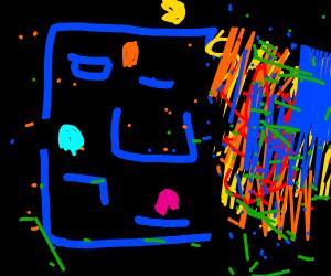 glitchy arcade game