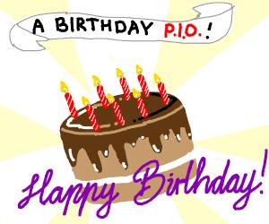 A birthday P.I.O  Yaay balloons