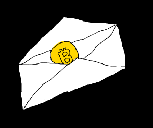 bitcoin in an envelope