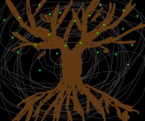Tree of Life in black void