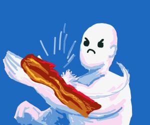 bacon slapped