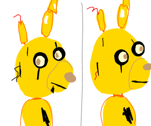 that one rabbit from fnaf he's yellow