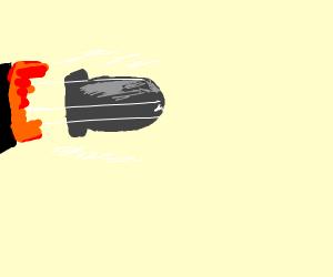 A shotgun bullet.