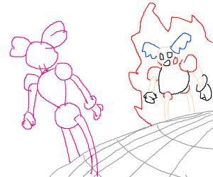 Spinel (su) vs. Mr. mime
