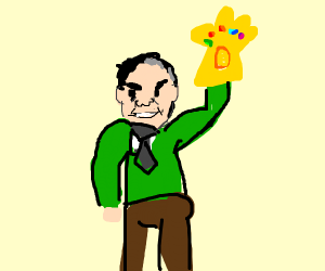 Mr. Rogers With Infinity Gauntlet