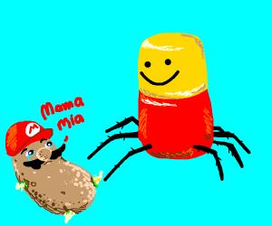Roblox Spider Makes Potato Mario Sad
