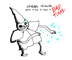 Sans is the skidaddle skidoodle wizard