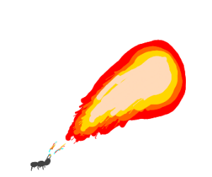 Miniature ant charging fireball