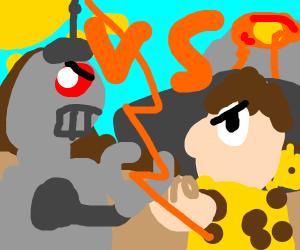 Robot vs Fred Flintstone?