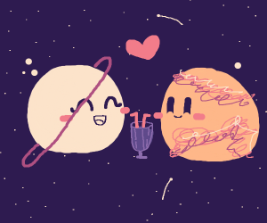 Two planets on a date