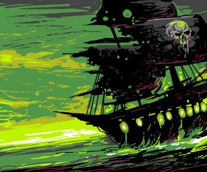 Radioactive pirate ship