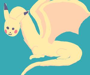 Dragon with Pikachu head