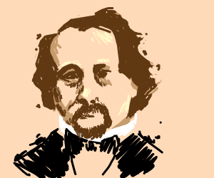 very good drawing of charles Dickens