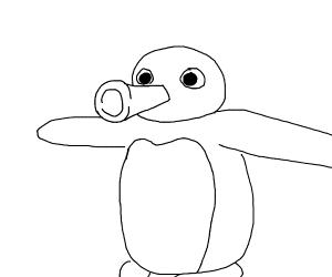 T-Posing Penguin