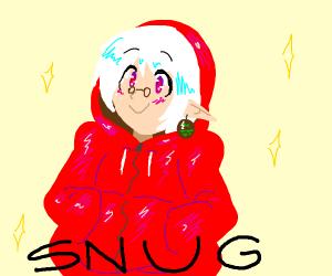 Kawaii dude in red hoodie
