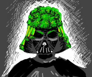 Vader's suit made of broccoli.