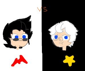 black hair vs white hair