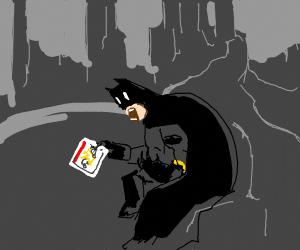 Batman observes fatal car crash in horror