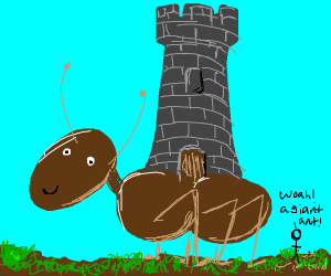 Tower on giant ant