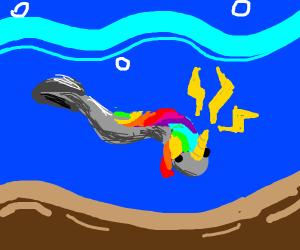 An Eel, but it's a pretty unicorn Eel
