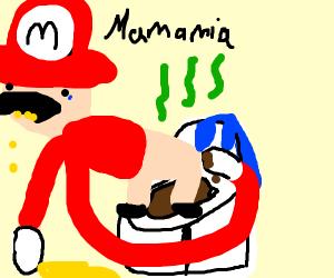 mario takes a massive dump