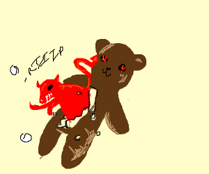 Demon pops out of teddy bear