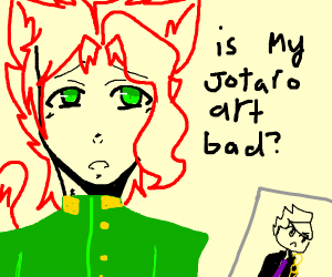 Furry kakyoin asking if his jotaro art bad
