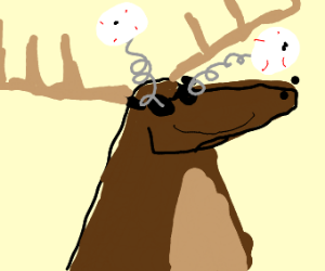 Oh deer, this deer thinks he's funny!