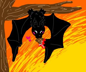 A bat likes chocolate