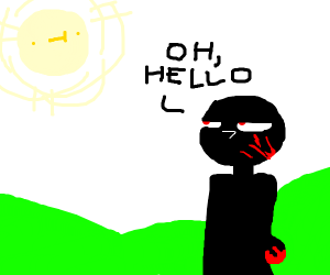 Murderer says hello to the sun