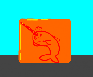 King Narwhal trapped in Royal Jello
