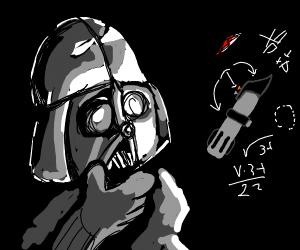 Darth Vader contemplates his light saber