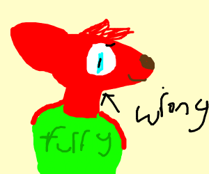 Furry guy is wrong