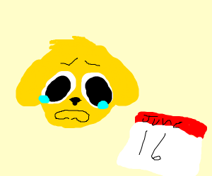 Simba sad about lion king on june 16th