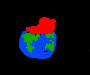 A giant radish on earth