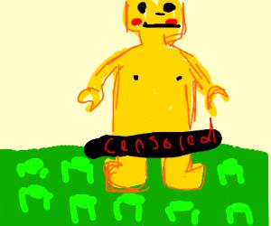 Naked censored lego dude