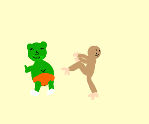 Gummibar from Gummybear Song vs Bigfoot