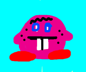 Kirby with an ugly face