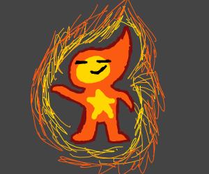 literal fire man