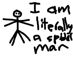 Literal spider man