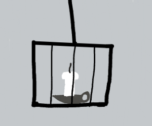 An Unlit Candle in a Cage