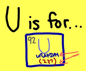U is for Uranium 237