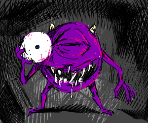 puple demon mike wazowski