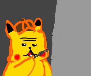 dectective pikachu smoking