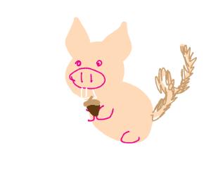 Squirrel-pig hybrid
