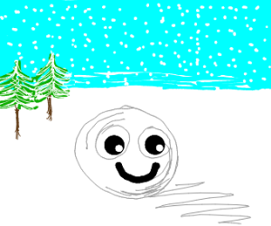 A happy little snowball