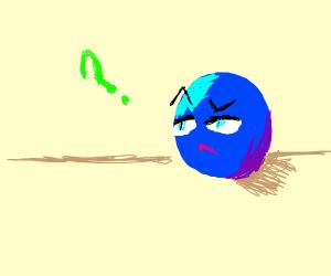 Confused blue dot
